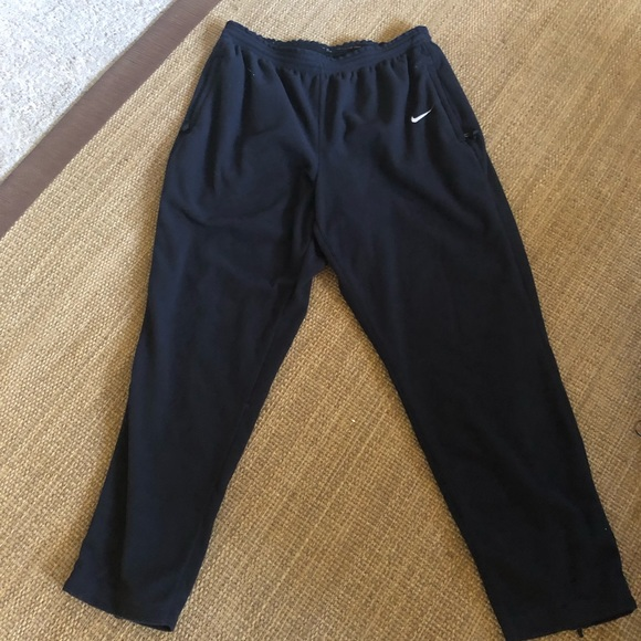 Nike men's black fleece sweatpants size xl